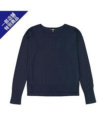 ユニクロ(ユニクロ)の「WOMEN エクストラファインメリノクルーネックセーター(長袖)+E(ニット・セーター)」
