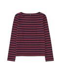 ユニクロ「WOMEN ボーダーボートネックT(長袖)A(T Shirts)」