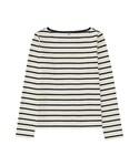 ユニクロ | WOMEN ボーダーボートネックT(長袖)A(Tシャツ・カットソー)