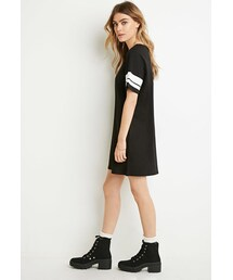 Forever 21「FOREVER 21 Varsity-Striped T-Shirt Dress(One piece dress)」