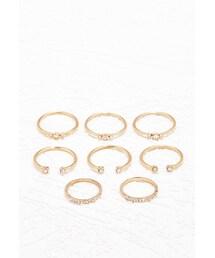 Forever 21「FOREVER 21 Rhinestone Midi Ring Set(Ring)」