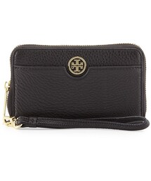 Tory Burch「Tory Burch Robinson Pebbled Leather Smartphone Wristlet Wallet, Black(Wallet)」