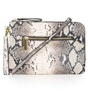 Topshop | Topshop Snake Print Faux Leather Clutch(Clutch)