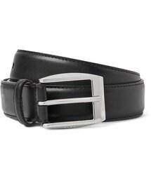 Gucci「Black 3cm Leather Belt(Jewelry)」
