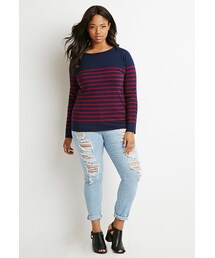 Forever 21「FOREVER 21+ Classic Striped Sweater(Knitwear)」