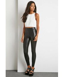 Forever 21「FOREVER 21 Faux Leather Leggings(Leggings)」
