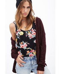 Forever 21「FOREVER 21 Floral Print Knit Tank(Tank tops)」