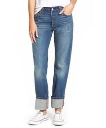 Levi's「Levi's® 501 'Super Cuff' Boyfriend Jeans (Port Side)(Denim pants)」