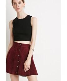 Forever 21「FOREVER 21 Buttoned Suede Skirt(Skirt)」