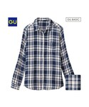 GU   (GU)チェックシャツ(レギュラー・長袖)B(WOMEN⁄シャツ・ブラウス)
