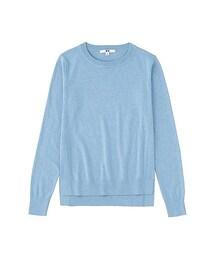 ユニクロ(ユニクロ)の「WOMEN コットンカシミヤクルーネックセーター(長袖)(ニット・セーター)」