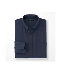 ユニクロ(ユニクロ)の「MEN フランネルシャツ(無地・ボタンダウンカラー・長袖)(シャツ・ブラウス)」