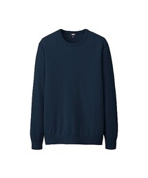 ユニクロ(ユニクロ)の「MEN コットンカシミヤクルーネックセーター(長袖)(ニット・セーター)」