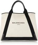 Balenciaga | Balenciaga Leather-Trimmed Canvas Tote(Tote)