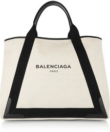 Balenciaga「Balenciaga Leather-Trimmed Canvas Tote(Tote)」