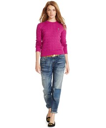 Polo Ralph Lauren「Polo Ralph Lauren Cable-Knit Crew-Neck Sweater(Knitwear)」