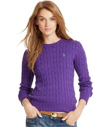 Polo Ralph Lauren「Polo Ralph Lauren Cable-Knit Crew-Neck Sweater(Knitwear)」