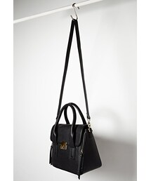 Forever 21「FOREVER 21 Double-Zip Faux Leather Satchel(Shoulderbag)」
