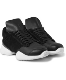 Rick Owens(リックオウエンス)の「+ adidas Suede and Leather Sneakers(シューズ)」