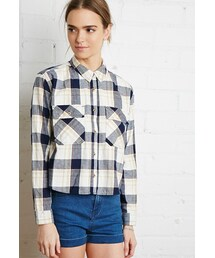 Forever 21「FOREVER 21 Boxy Plaid Flannel Shirt(Shirts)」