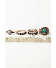Forever 21「FOREVER 21 Faux Stone Ring Set(Ring)」