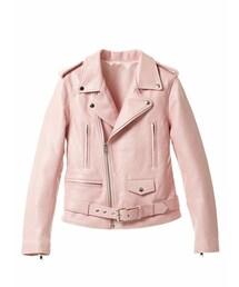 imvely「ピンクライダースジャケット(Riders jacket)」