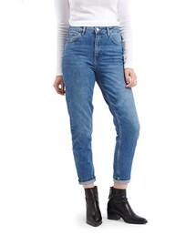 Topshop「Topshop Moto High Rise Crop Jeans (Blue)(Denim pants)」