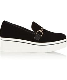 Stella McCartney「Stella McCartney Stella Mccartney Embellished Velvet Platform Sneakers(Other Shoes)」