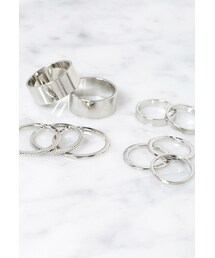 Forever 21「FOREVER 21 Etched Midi Ring Set(Ring)」