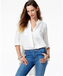 Free People「Free People High-Low Cinched-Detail Button-Down Shirt(Shirts)」