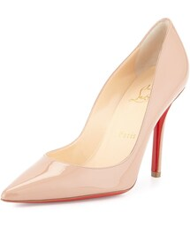 Christian Louboutin「Christian Louboutin Apostrophy Patent Red Sole Pump, Nude(Pumps)」