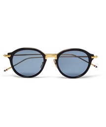 Thom Browne「Thom Browne Round-Frame Acetate and Metal Sunglasses(Sunglasses)」