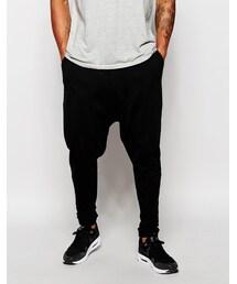 Asos「ASOS BRAND ASOS Drop Crotch Joggers In Lightweight Fabric(Pants)」