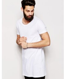 Asos「ASOS BRAND ASOS Super Longline T-Shirt With Scoop Neck And Relaxed Skater Fit(T Shirts)」