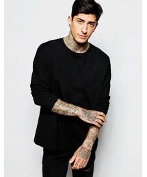 Asos「ASOS BRAND ASOS Oversized Long Sleeve T-Shirt In Slub Jersey(T Shirts)」