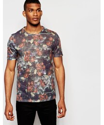 Asos「ASOS BRAND ASOS T-Shirt In Fine Knit and All Over Floral Print With Relaxed Fit(T Shirts)」