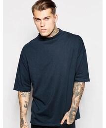 Asos「ASOS BRAND ASOS Oversized T-Shirt With Raw Edge Turtleneck(T Shirts)」