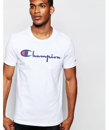 Champion「Champion Script T-Shirt Exclusive To ASOS(T Shirts)」