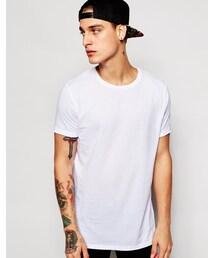 Asos「ASOS BRAND ASOS Longline T-Shirt With Raw Edge In Relaxed Skater Fit(T Shirts)」