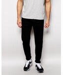 Diesel | Diesel Jeans T-Ride 886Z Skinny Tapered Fit Stretch Biker Seams Black(Denim pants)