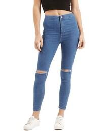 Topshop「Topshop 'Joni' Ripped High Rise Skinny Jeans (Petite)(Denim pants)」