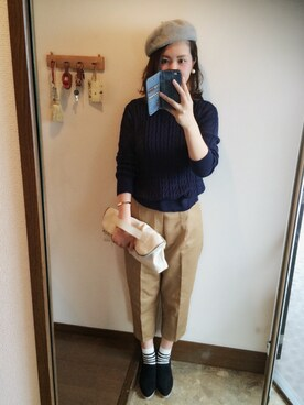 maminnieさんの「【SMIR NASLI】Leather Slip-On Oxford(SMIRNASLI)」を使ったコーディネート