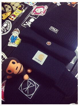 2b5748b9a5beee 【LONG CLOTHING】Long ICON Beanie-Large,Small Patch-を使ったコーディネート (1)