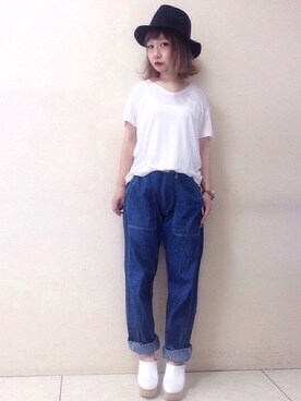 emi さんの「CLASSIC TEE WITH POCKET(T by Alexander Wang)」を使ったコーディネート
