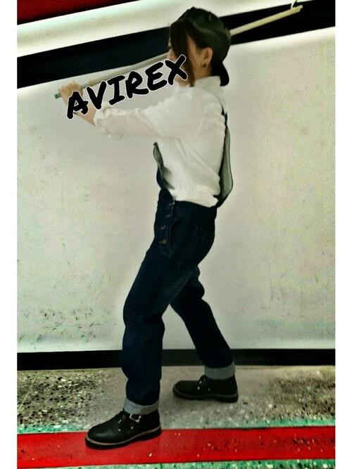 AVIREX 梅田うっちーさんの「(|)」を使ったコーディネート