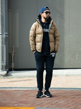 BACK CHANNEL (FLAGSHOP : BACKWOODS BOROUGH)|BACK CHANNELさんの「BACK CHANNEL×NANGA HOODED DOWN JACKET(Back Channel)」を使ったコーディネート