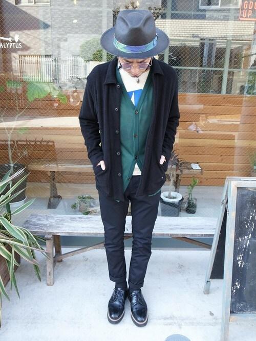 GDC TOKYOGDCTOKYO-MAH-bow-さんのカーディガン「MITSUKE KNITx GDC knit cardigan(GDC|ジーディーシー)」を使ったコーディネート