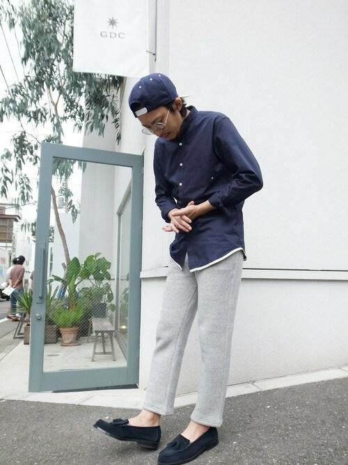GDC TOKYOGDCTOKYO-MAH-bow-さんのモカシン/デッキシューズ「HARUTAxGDC KILT TASSEL LOAFER(GDC|ジーディーシー)」を使ったコーディネート