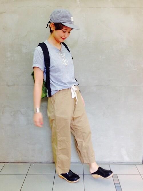 ビームス ボーイ 梅田tomoyosonodaさんのTシャツ/カットソー「FRUIT OF THE LOOM × BEAMS BOY / 2packs-Tシャツ(BEAMS BOY|ビームスボーイ)」を使ったコーディネート