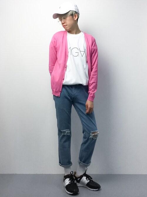 ZOZOTOWNまっこいさんのTシャツ/カットソー「INGA tee(GDC ジーディーシー)」を使ったコーディネート